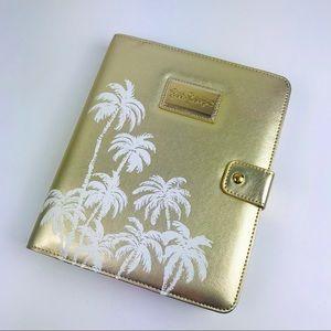 Lily Pulitzer Gold Metallic Palms Agenda Folio
